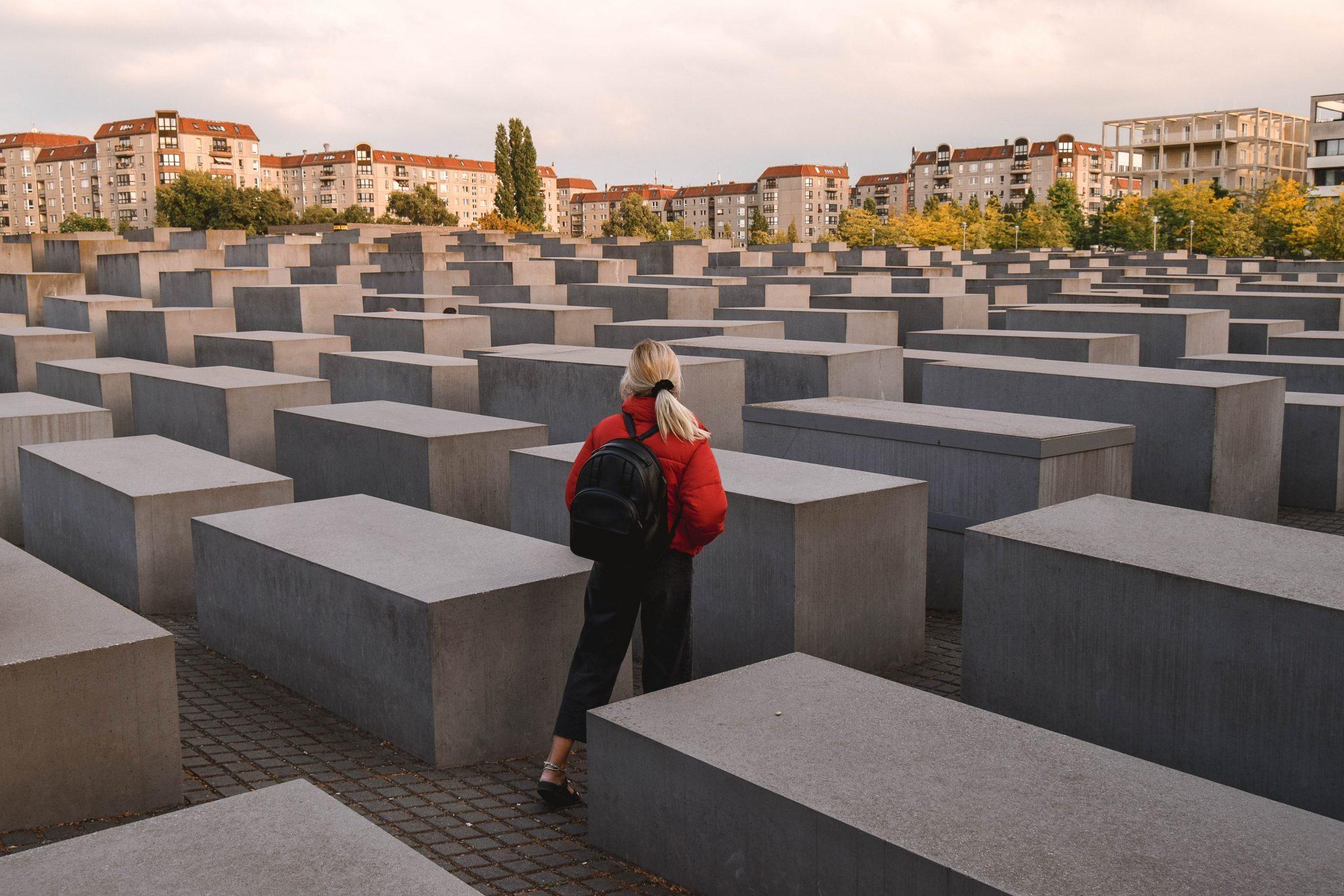 Wanderers & Warriors - Charlie & Lauren UK Travel Couple - Top Things To Do In Berlin Jewish Memorial Holocaust Memorial Berlin