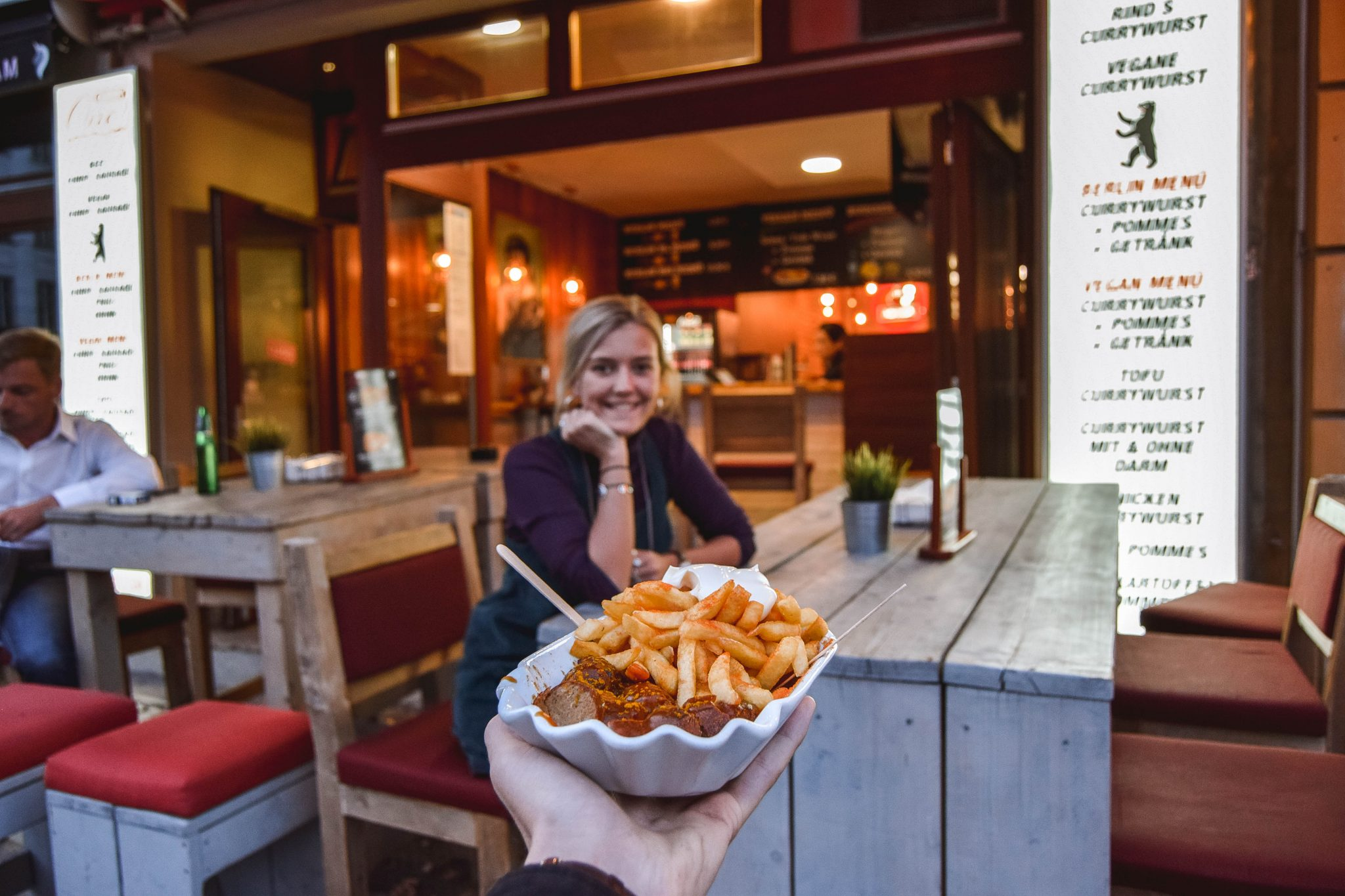 Wanderers & Warriors - Charlie & Lauren UK Travel Couple - Top Things To Do In Berlin CurryWurst