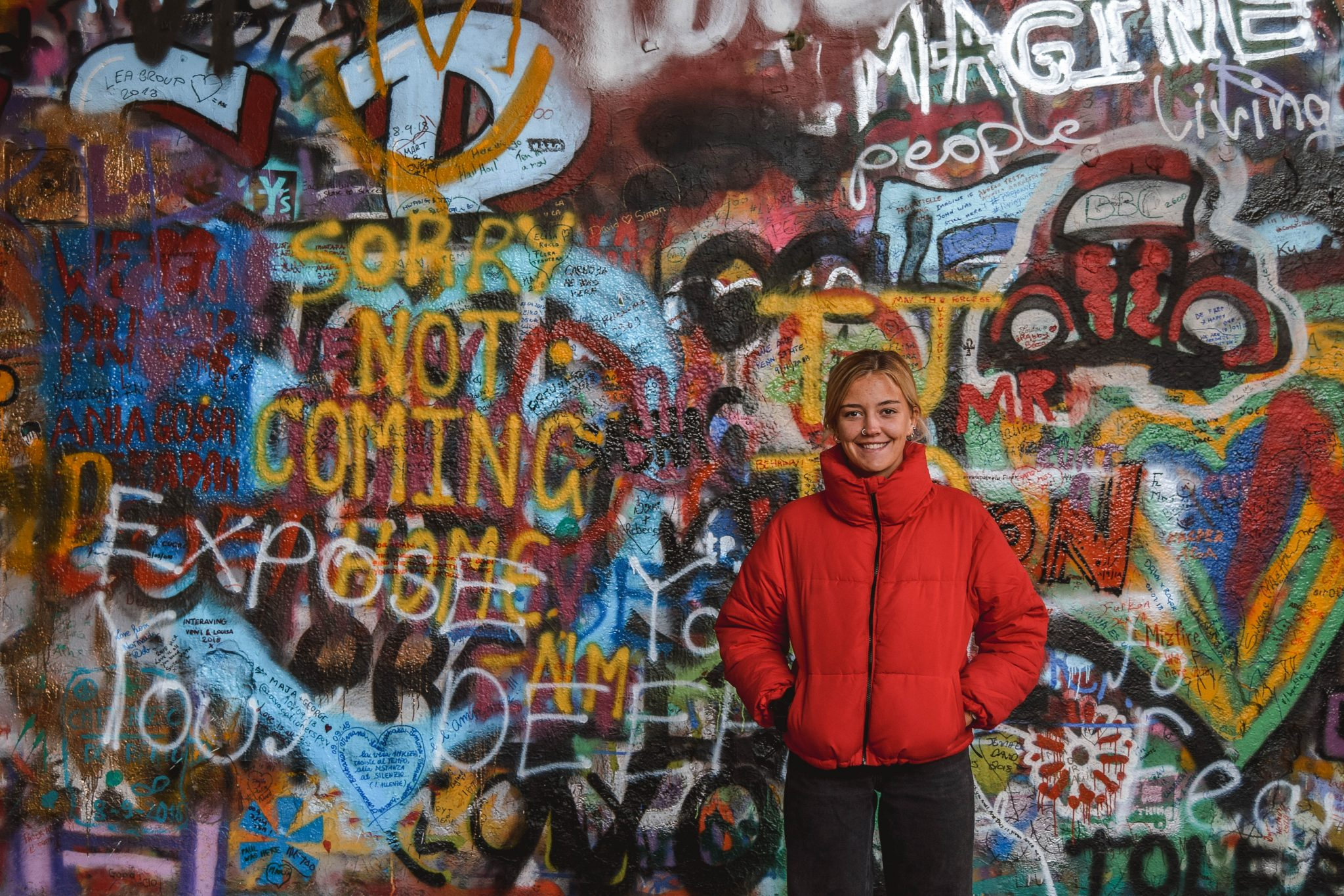 Wanderers & Warriors - Charlie & Lauren UK Travel Couple - Top 9 FUN Things To Do In Prague - What To See In Prague John Lennon Wall