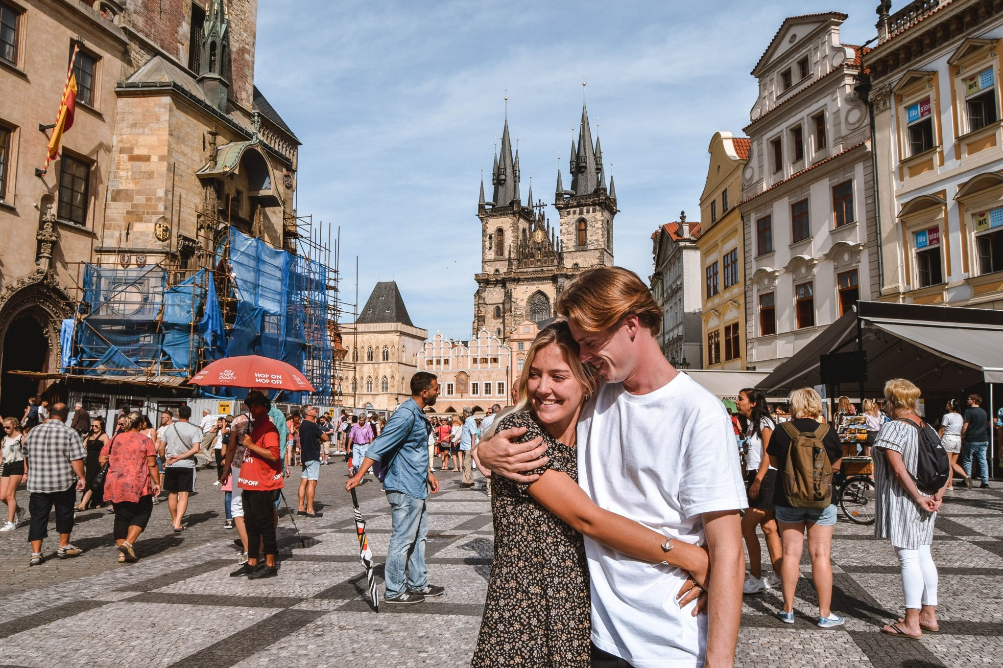 Wanderers & Warriors - Charlie & Lauren UK Travel Couple - Top 9 FUN Things To Do In Prague - What To See In Prague Church Of Our Lady Before Tyn