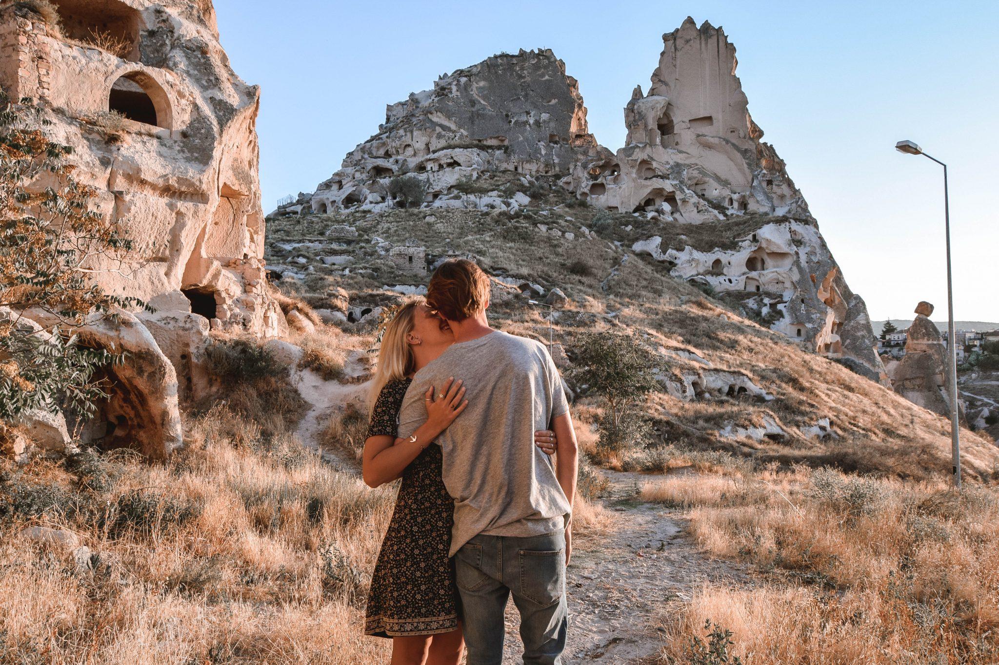 Wanderers & Warriors - Charlie & Lauren UK Travel Couple - Things To Do In Cappadocia Uchisar Castle Cappadocia