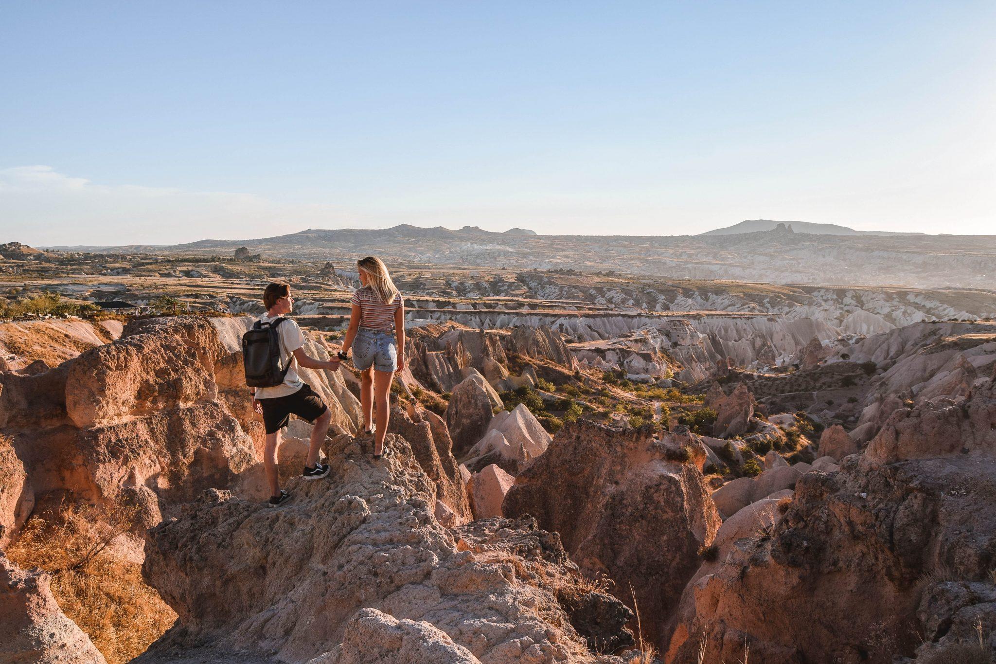 Wanderers & Warriors - Charlie & Lauren UK Travel Couple - Things To Do In Cappadocia Sunset Rose Valley Cappadocia Red Valley Cappadocia