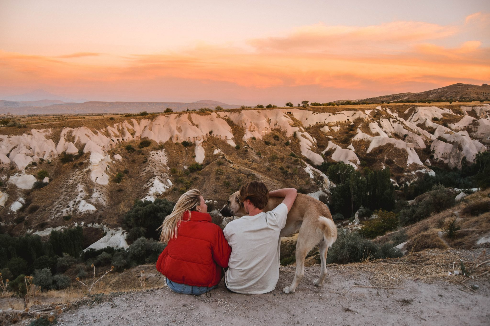 Wanderers & Warriors - Charlie & Lauren UK Travel Couple - Things To Do In Cappadocia Sunset Pigeon Valley Cappadocia