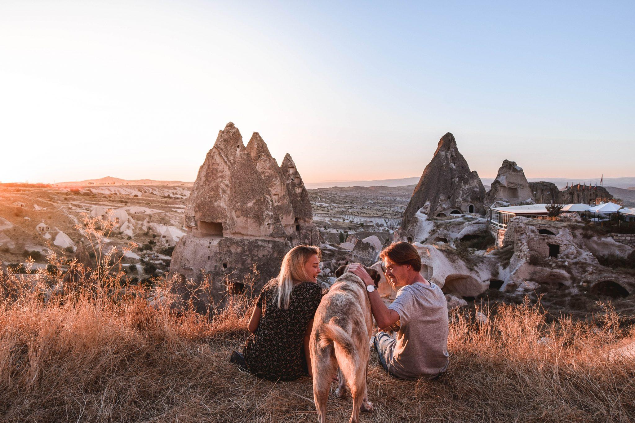 Wanderers & Warriors - Charlie & Lauren UK Travel Couple - Things To Do In Cappadocia Sunset Cappadocia Puppies