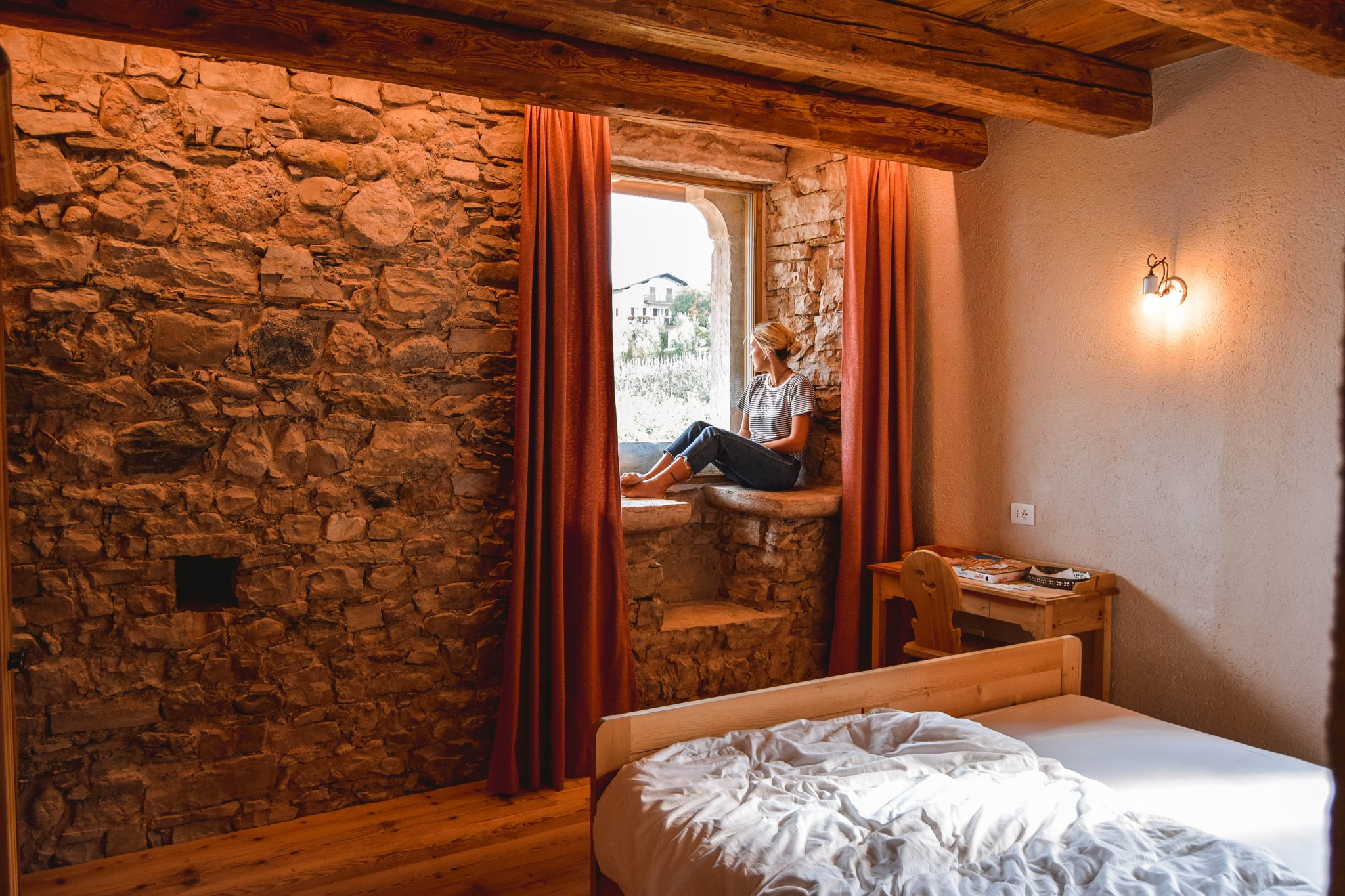 Wanderers & Warriors - Charlie & Lauren UK Travel Couple - Things To Do In Val Di Non - Agritur Ciastel Casez Val Di Non Castle Trentino