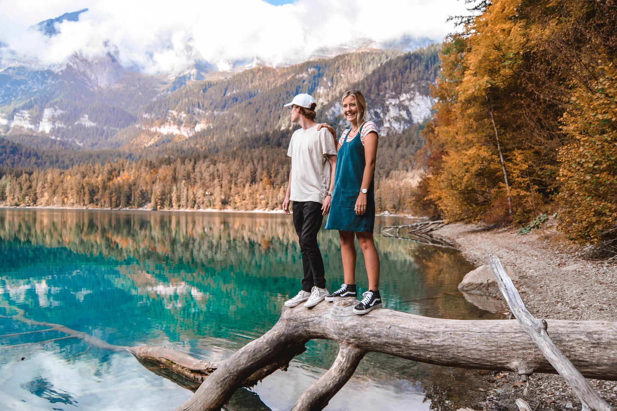 Wanderers & Warriors - Charlie & Lauren UK Travel Couple - Things to do in Val Di Non Trentino - Lago Di Tovel Trentino Lago Tovel Lake Tovel