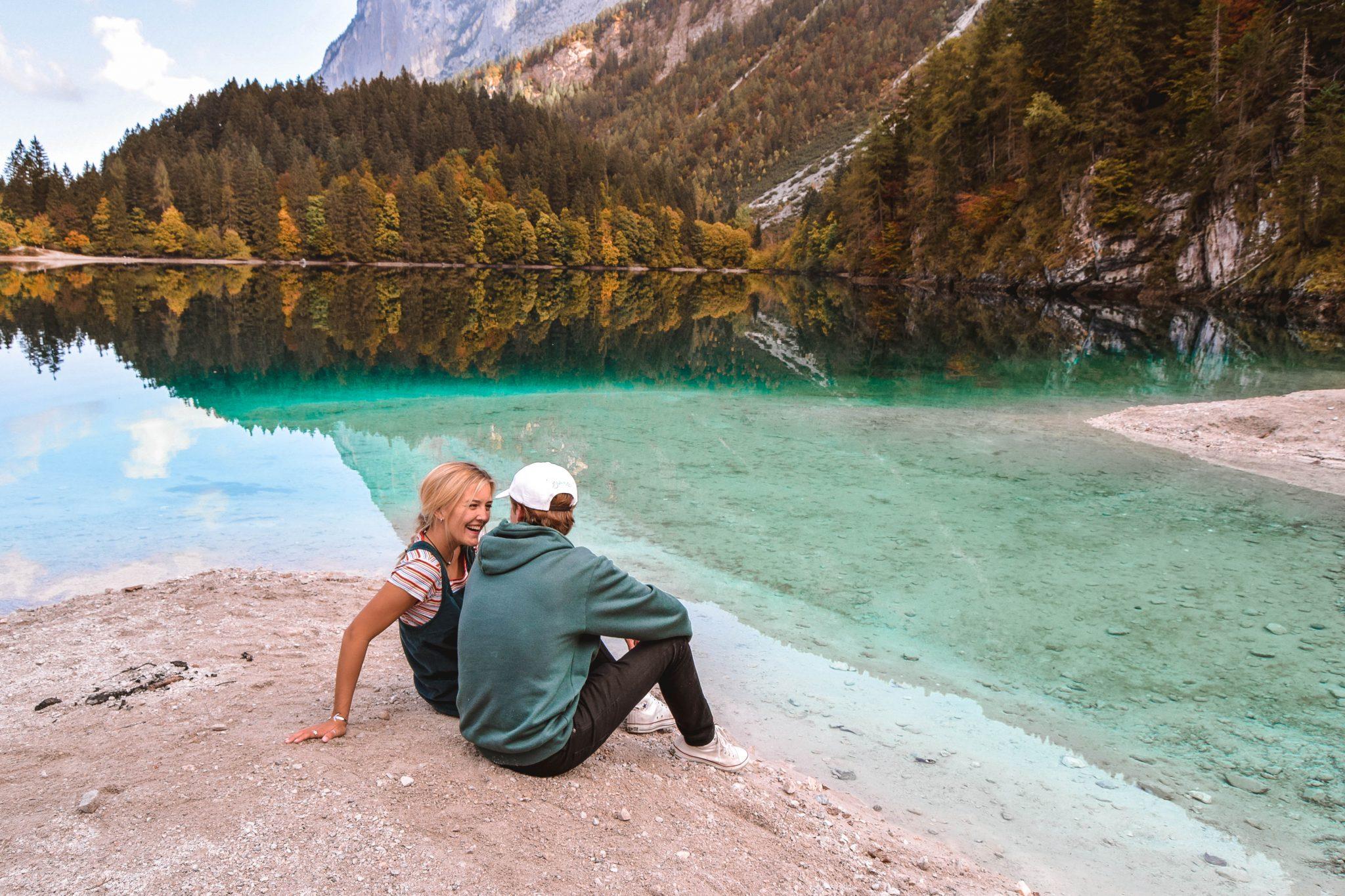 Wanderers & Warriors - Charlie & Lauren UK Travel Couple - Lago Di Tovel Trentino Lago Tovel Beach Lake Tovel