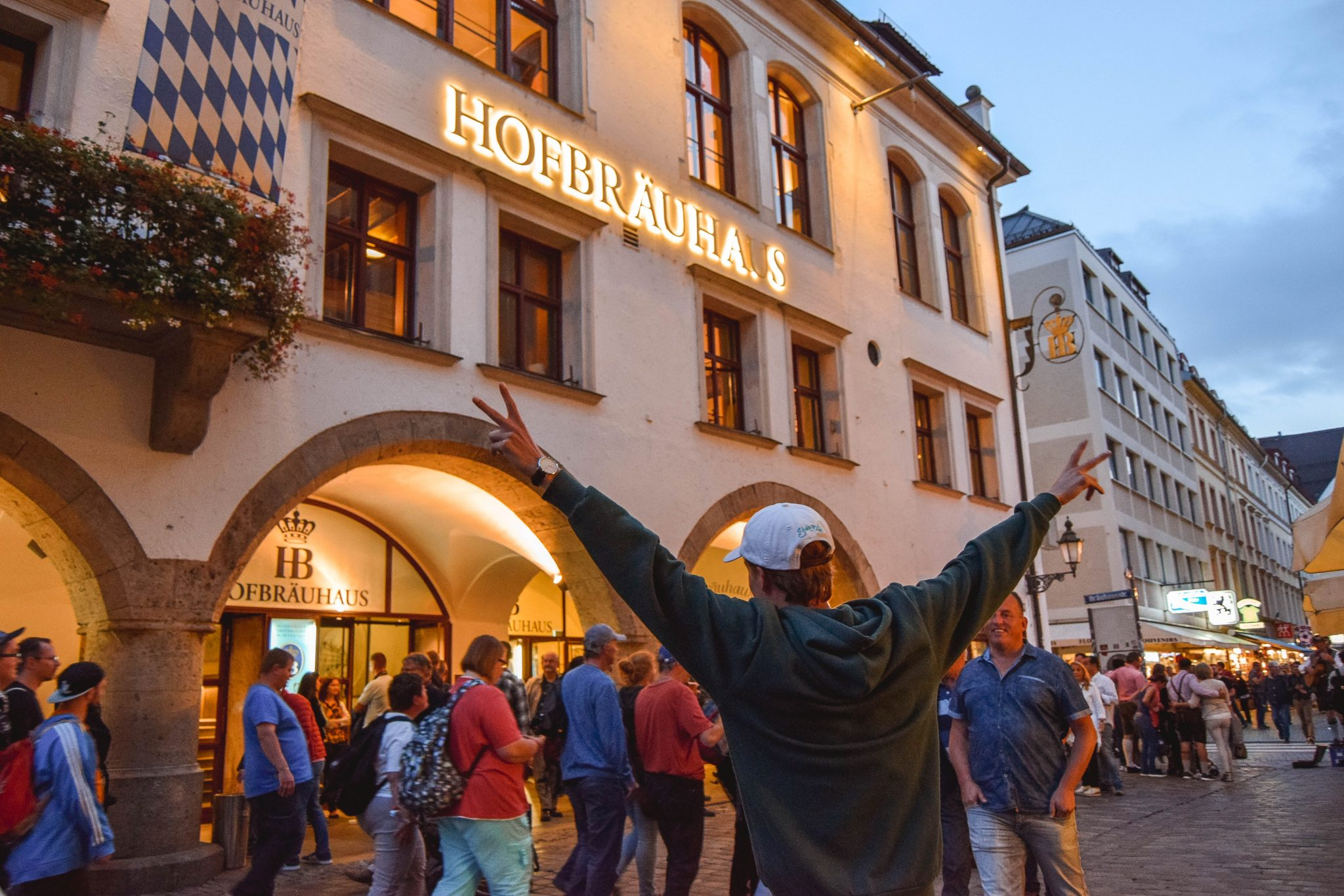 Wanderers & Warriors - Charlie & Lauren UK Travel Couple - Things To Do In Munich In One Day - Hofbrauhaus Beer Hall Munich