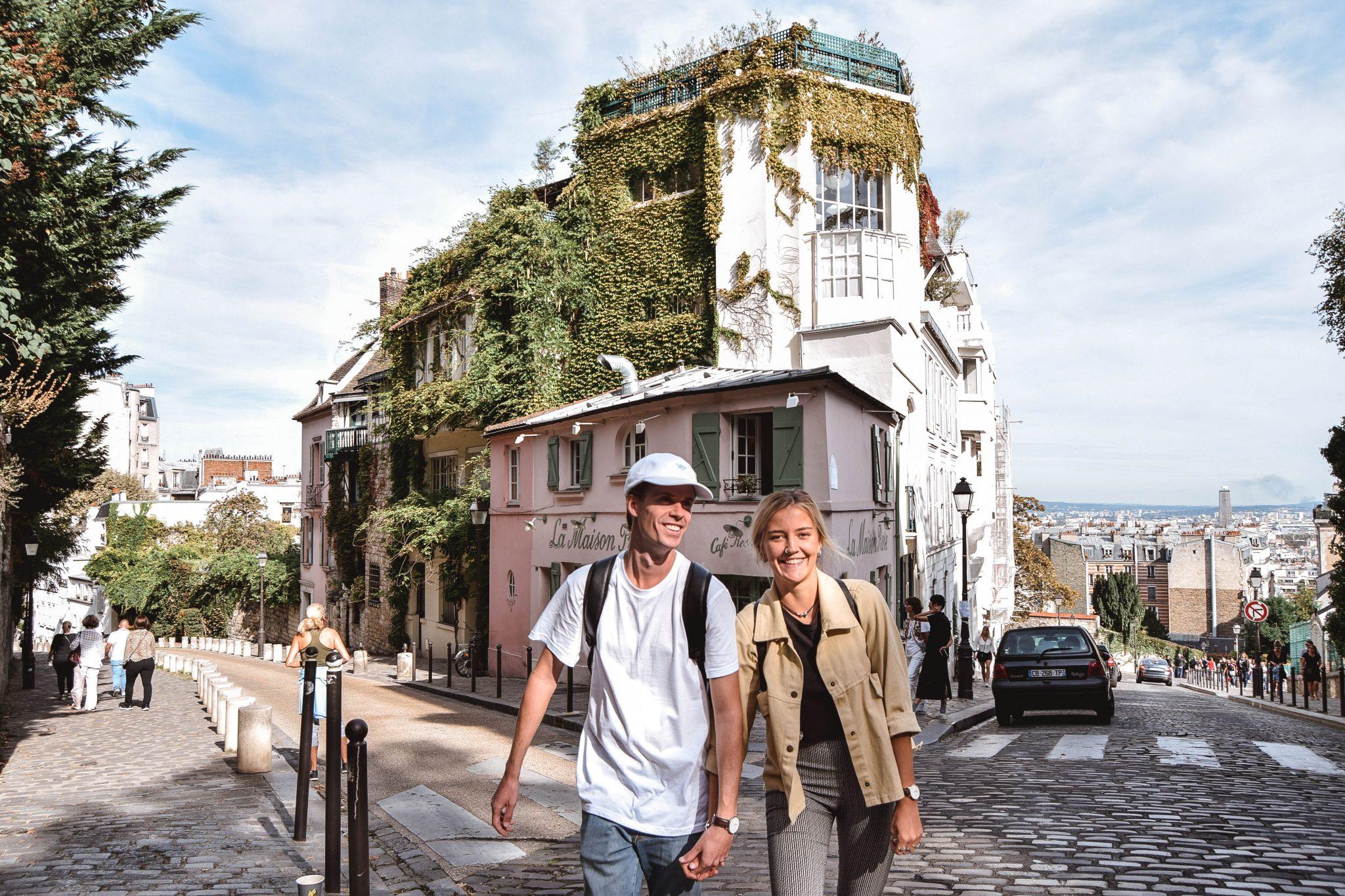 Wanderers & Warriors - Charlie & Lauren UK Travel Couple - Two Days In Paris Itinerary - Montmartre Streets Paris