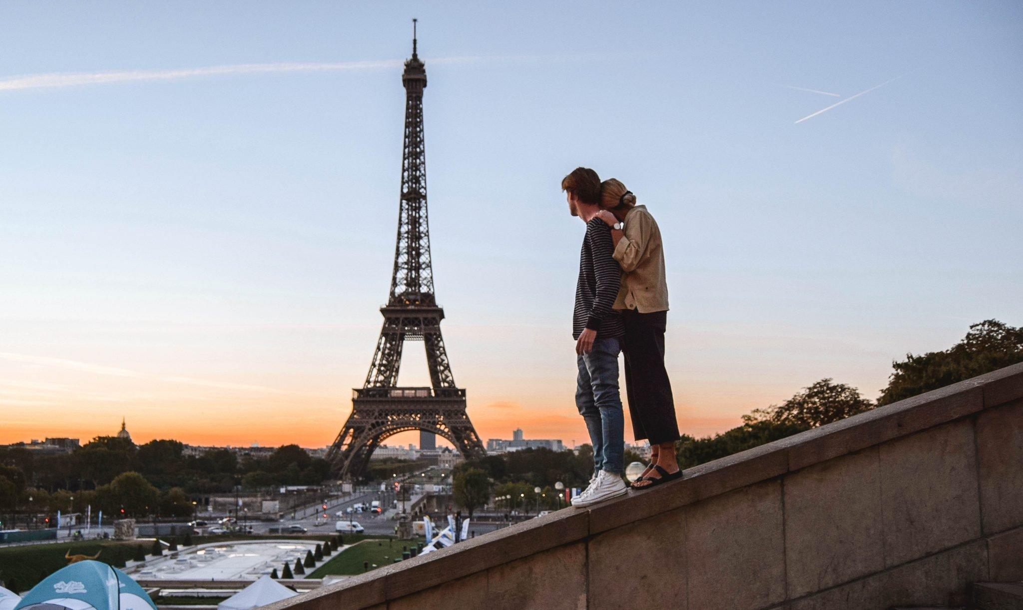 Wanderers & Warriors - Charlie & Lauren UK Travel Couple - Two Days In Paris Itinerary - Trocadero Steps Eiffel Tower Paris