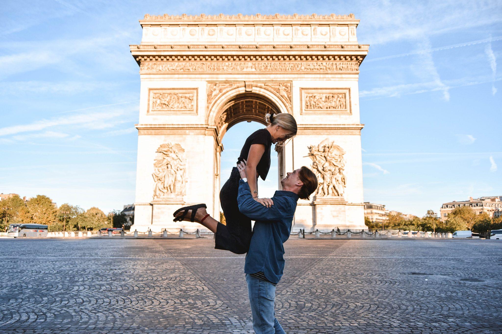 Wanderers & Warriors - Charlie & Lauren UK Travel Couple - Two Days In Paris Itinerary - Arc De Triomphe Paris
