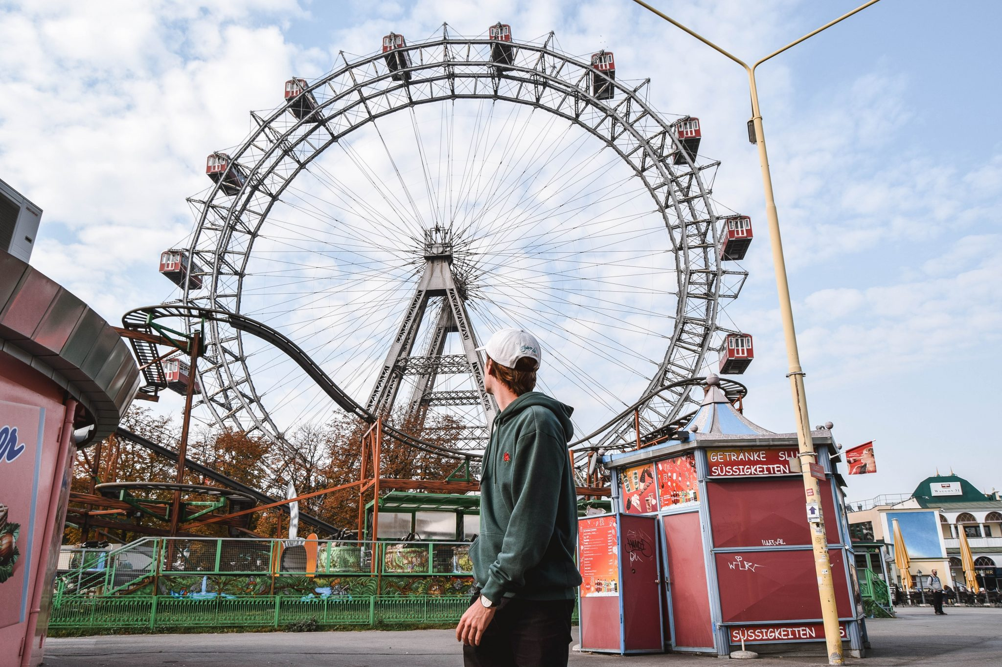 Wanderers & Warriors - Charlie & Lauren UK Travel Couple - Prater Amusement Park Vienna Prater Vienna In A Day - Things To Do In Vienna Itinerary 3 Days In Vienna 3 Day Itinerary Vienna 2 Day Itinerary