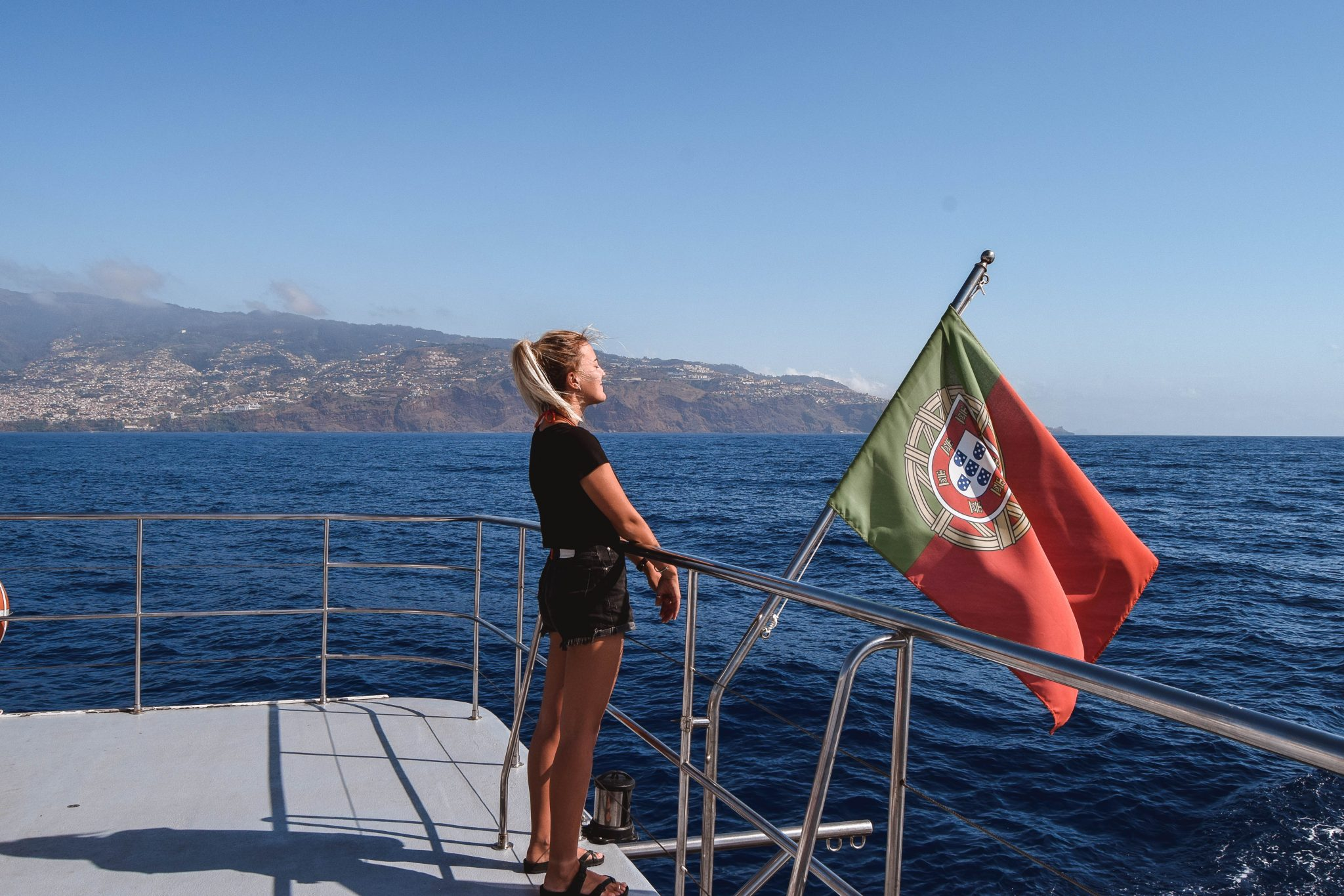 Wanderers & Warriors - Charlie & Lauren UK Travel Couple - Whale Watching In Madeira Whale Watching VMT Madeira