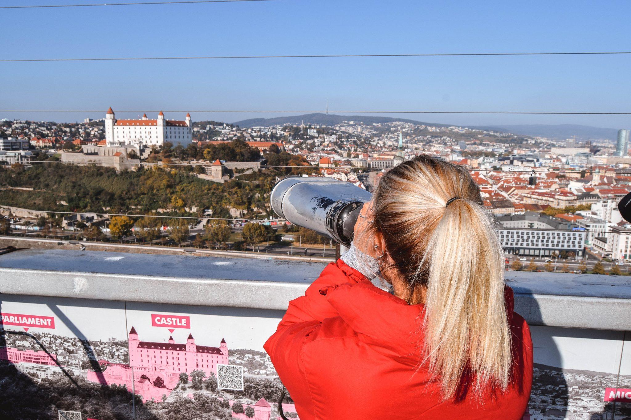 UFO Bratislava Most SNP Bratislava UFO Observation Deck Bratislava UFO Restaurant Bratislava Castle
