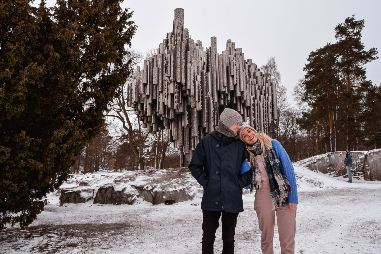 Sibelius Monument Helsinki Sibelius Park Instagrammable places in Helsinki In Winter