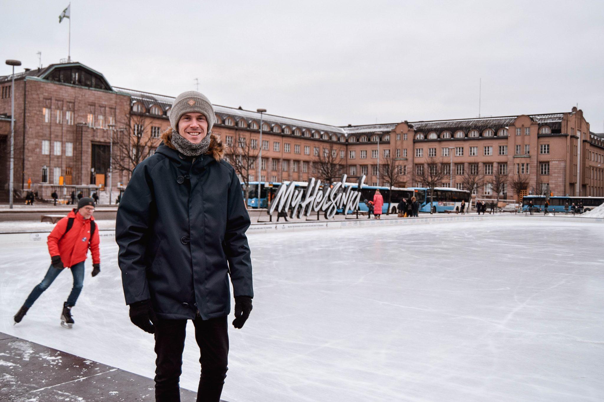 Things To Do In Helsinki In Winter - Ice Skating Helsinki Icepark