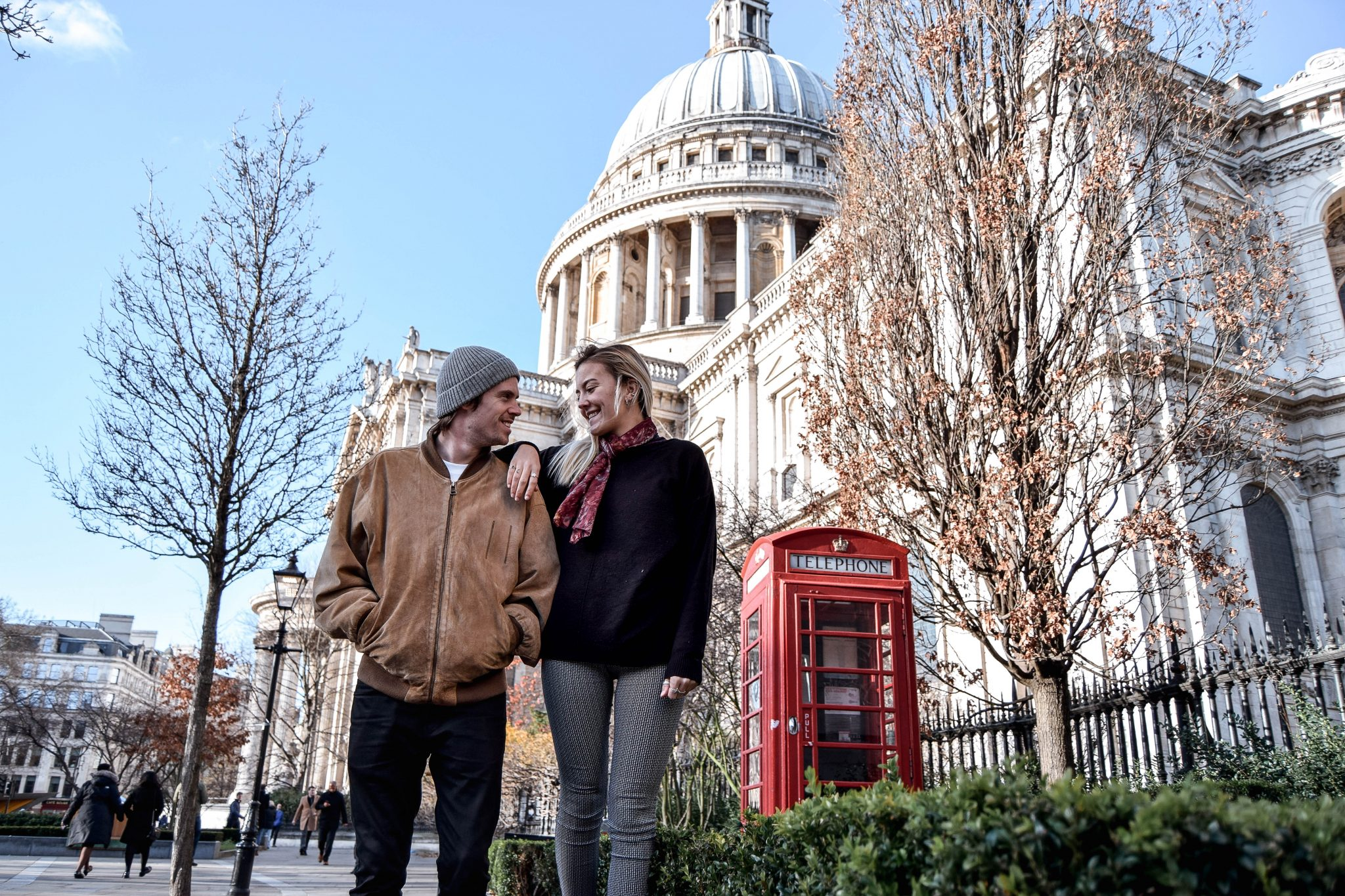 Ultimate London Bucket List - St Paul Cathedral Phone Box