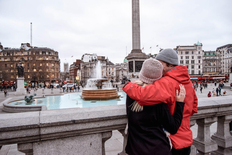 Trafalgar Square Fountains 4 Day London Itinerary