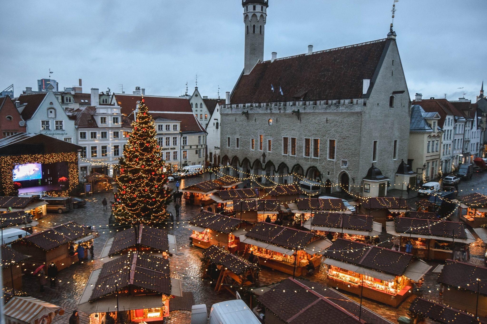 Things To Do In Tallinn In Winter Tallinn Things To Do - Town Square Christmas Market Tallinn Estonia