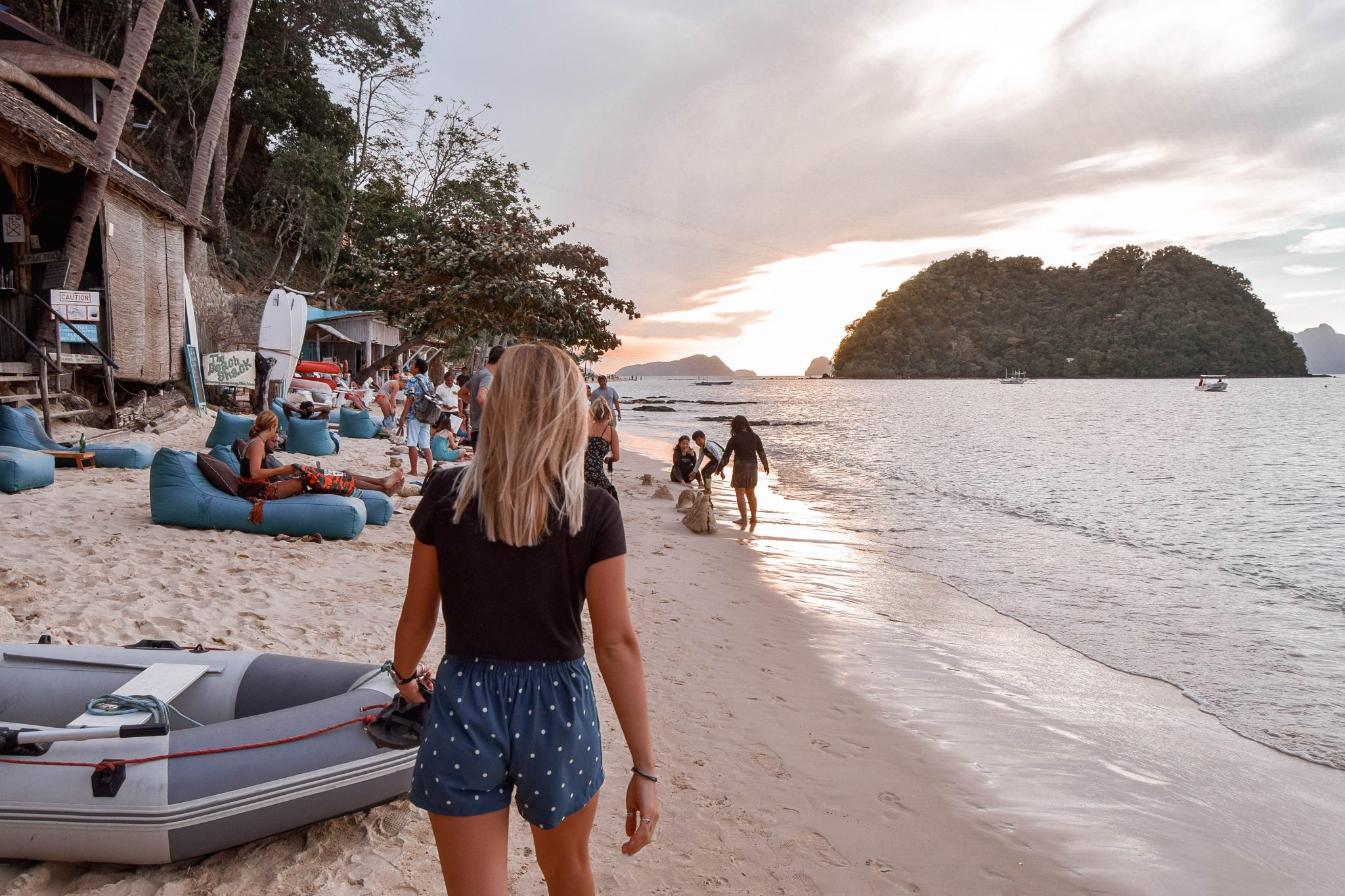 Las Cabanas Beach El Nido Best Beaches In El Nido Things To In El Nido Best Sunset In El Nido