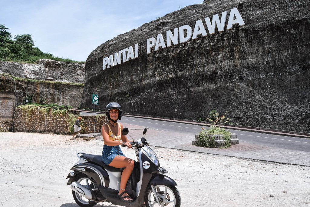 Renting A Scooter In Bali Pandawa Beach