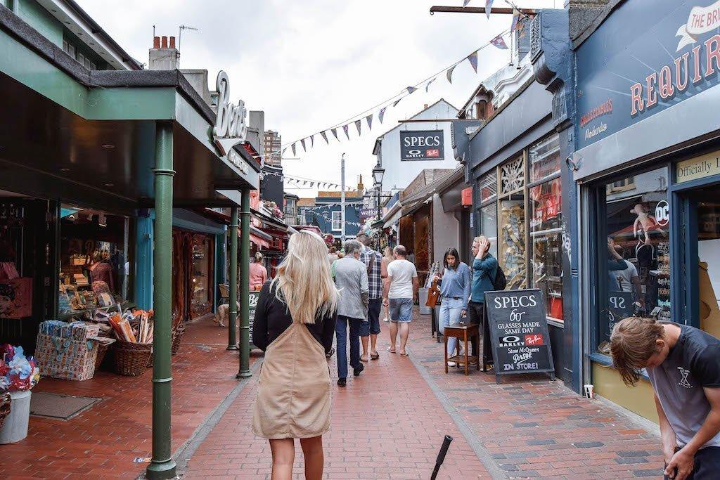 North Laine Brighton Shopping Fun Things To Do In Brighton